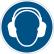 DURABLE Gehörschutz benutzen Sicherheitskennzeichen
