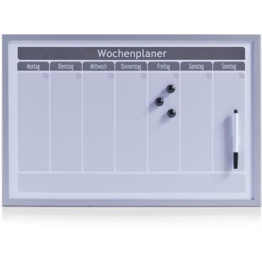 Zeller Wochenplaner, magnetisch, 60 x 40 cm, grau