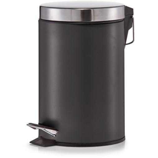 Zeller Treteimer, 3 Liter, matt schwarz