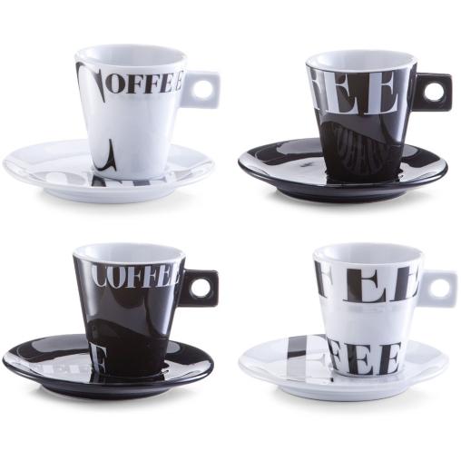Zeller Coffee style Cappuccino-Set, 8-teilig
