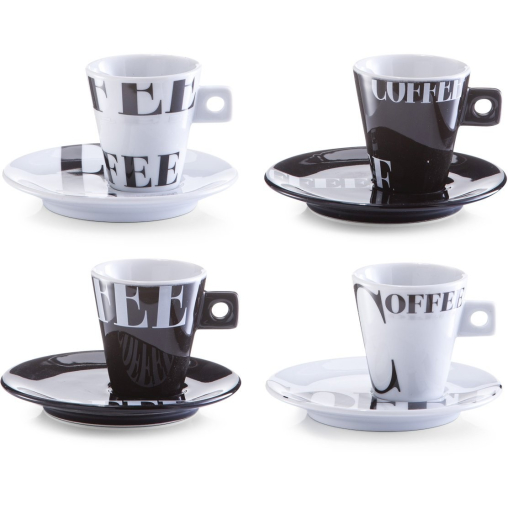 Zeller Coffee style Espresso-Set, 8-teilig