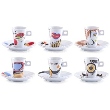 Zeller Faces Espresso-Set, 12-teilig