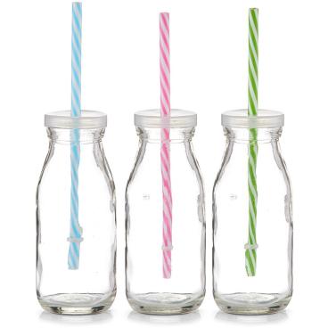 Zeller Trinkflasche mit Strohhalm