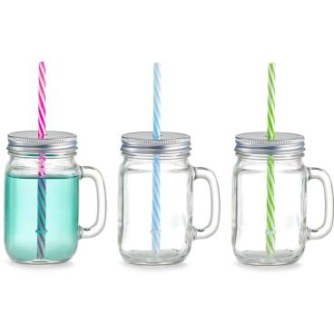 Zeller Countrystyle Trinkglas-Set mit Henkel, 470 ml