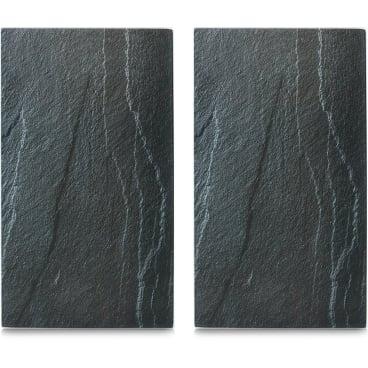 Zeller Schiefer Herdabdeck-/Schneideplatten-Set, 30 x 52 cm