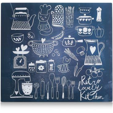 Zeller Lovely Kitchen Herdblende-/Abdeckplatte, 56 x 50 cm