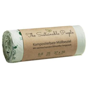 TSP Bio Müllbeutel, 6-8 Liter, 100% heim-kompostierbar 37 x 39 cm