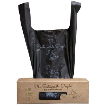 TSP Bio Hundekotbeutel Comfort Großrolle, schwarz, 23 x 38 cm