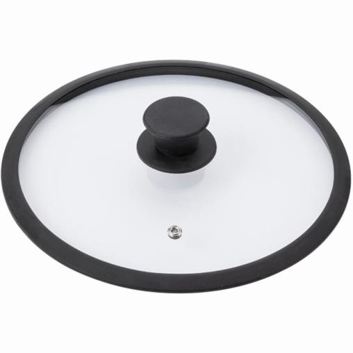KRÜGER Saphir Universal-Glasdeckel mit schwarzem Silikonrand