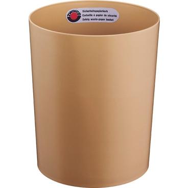 Zwingo Sicherheitspapierkorb mit Alu-Einsatz, 13 Liter