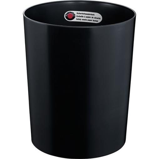 Zwingo Sicherheitspapierkorb mit Alu-Einsatz, 24 Liter
