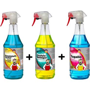 TUGA CHEMIE Reinigungsset 1 Set = 3 x 1000 ml - Flaschen
