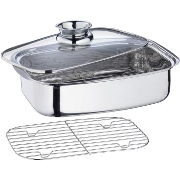 Küchenprofi Aromabräter mit Glasdeckel
