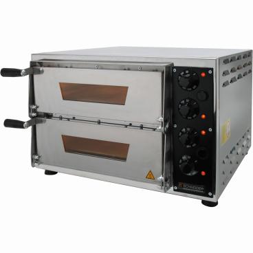 SCHNEIDER Elektro-Pizzaofen, 2 Backkammern