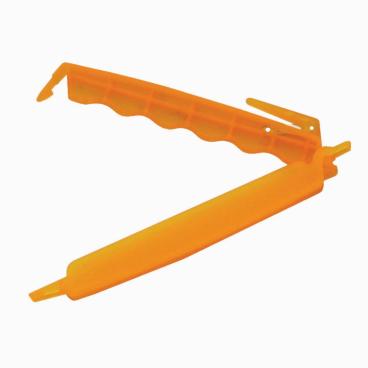 SCHNEIDER Verschluss-Clip, orange, mit Messer