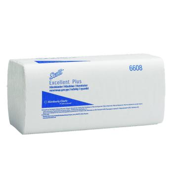 SCOTT® Excellent Plus Handtücher, hochweiß 1 Karton = 20 x 180 = 3600 Tücher