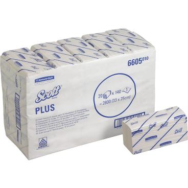SCOTT® Plus Handtücher - Medium 1 Karton = 20 x 140 = 2.800 Tücher