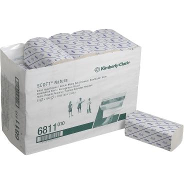SCOTT® Natura Handtücher, 25 x 23 cm, 2-lagig 1 Karton = 20 x 180 = 3.600 Tücher