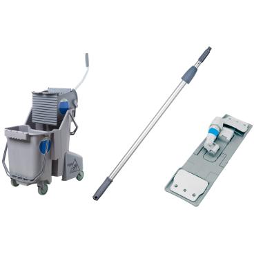 UNGER SmartColor™ Reinigungs-Set bestehend aus: und SmartColor™ Mop Stiel 140