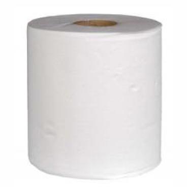 Rollenhandtuchpapier, 1-lagig, hochweiß, Zellstoff 1 Paket = 6 Rollen á ca. 320 Meter