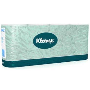 KLEENEX® 350 Toilet Tissue Rollen 1 Paket = 8 x 8 Rollen á 350 Blatt