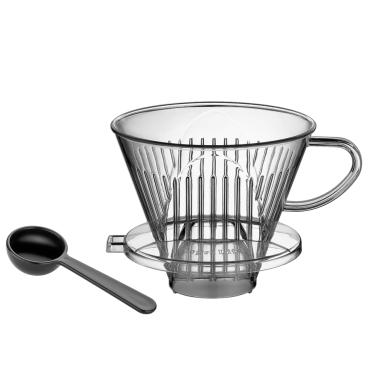 Cilio Kaffeefilter mit Messlöffel, Kunststoff
