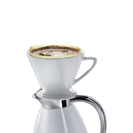 Cilio Kaffeefilter mit Stutzen, weiß