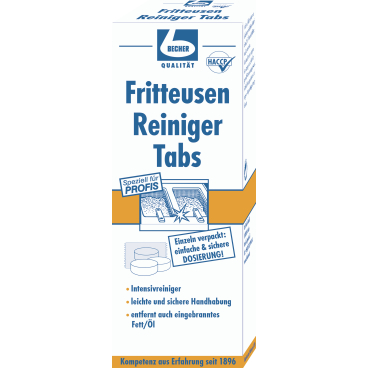 Dr. Becher Fritteusen Reiniger Tabs 1 Packung = 10 Tabs