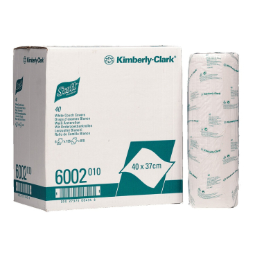 SCOTT® 40 Weiße Ärzterollen 1 Karton = 6 Rollen à 135 Tücher