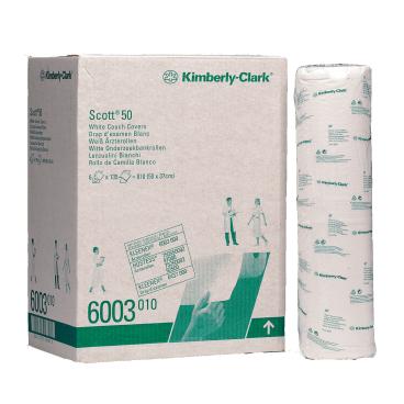 SCOTT® 50 Weiße Ärzterollen 1 Karton = 6 Rollen á 135 Tücher