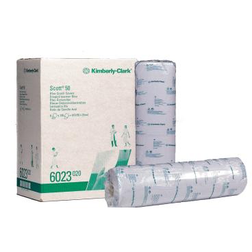 SCOTT® 50 Blaue Ärzterollen 1 Karton = 6 Rollen à 135 Tücher