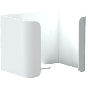 Halter für 1 Reserve-Standardrolle Toilettenpapier Aluminium, weiß beschichtet