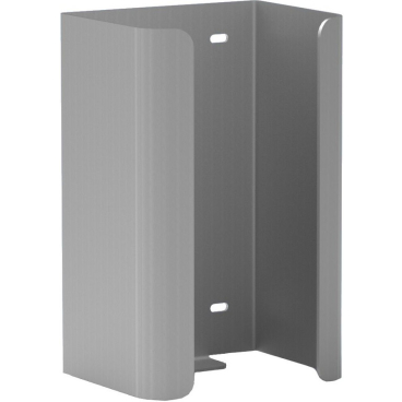 Halter f. 2 Reserve-Standardrollen Toilettenpapier Aluminium, mattsilber eloxiert