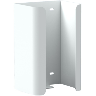 Halter f. 2 Reserve-Standardrollen Toilettenpapier Aluminium, weiß beschichtet