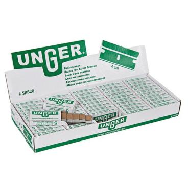 UNGER Karbon Glasschaberklingen 4cm 1 Box = 50 x 5 Stück = 250 Stück