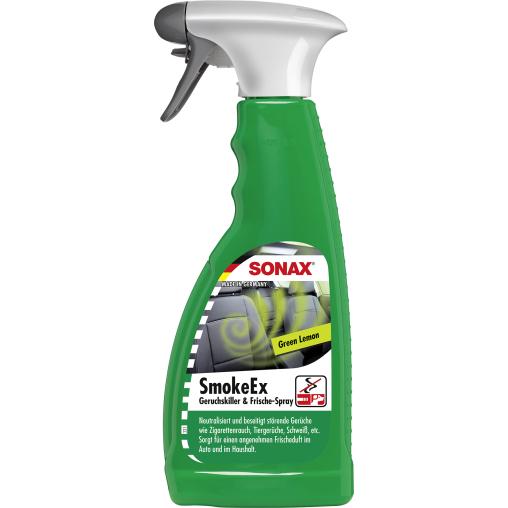 SONAX SmokeEx Geruchskiller & Frische-Spray Green Lemon