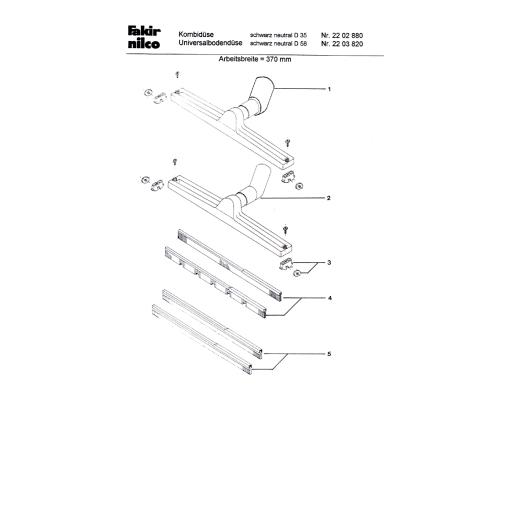 Nilco Combidüse mit Rollen - Nass/Trocken, Kunststoff