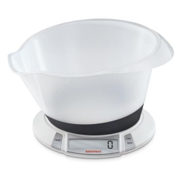 SOEHNLE Olympia Plus Küchenwaage Material: Kunststoff, Farbe: Weiß
