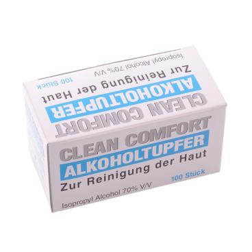 Alkoholtupfer, Medium für die Hautreinigung 1 Box = 100 Stück