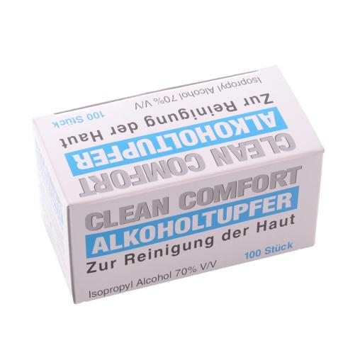 Alkoholtupfer, Medium für die Hautreinigung