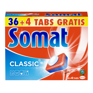 Somat Classic Spülmaschinentabs 1 Packung = 40 Tabs