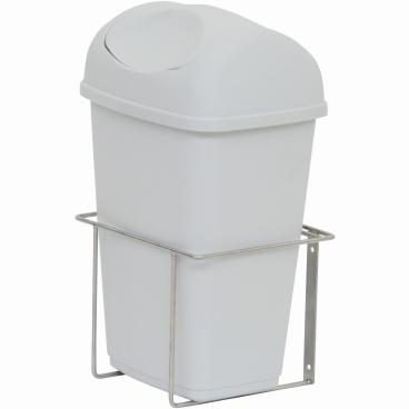 Abfallbehälter mit Deckel für novocal Stations- und Pflegewagen