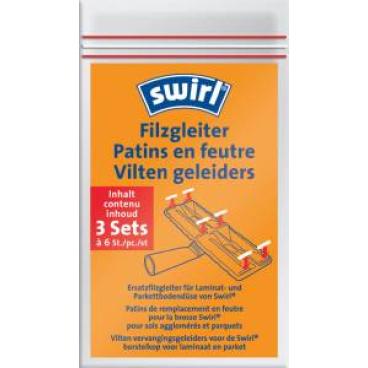 Swirl Filzgleiter für Parkettdüse 1 Packung = 3 Sets