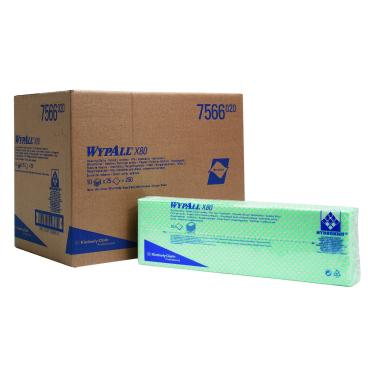 WYPALL* X80 Wischtücher - Interfold 1 Karton = 10 Boxen á 25 Tücher