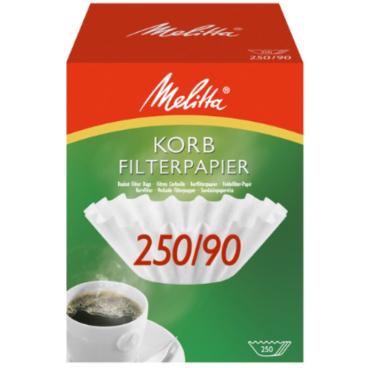 Melitta® Korbfilterpapier 250/90 1 Packung = 250 Stück, weiß