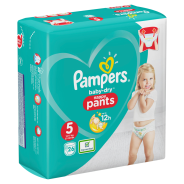 Pampers Baby Dry nappy Pants Junior Windeln 12-17 kg, Größe 5