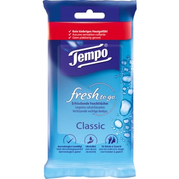 Tempo fresh to go Classic Feuchttücher