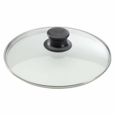 ELO Glasdeckel mit Edelstahlrand und Kunststoffknopf