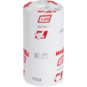 WYPALL* L20 Extra+ Wischtücher,  Kleinrolle 1 Karton = 24 Rollen á 100 Tücher