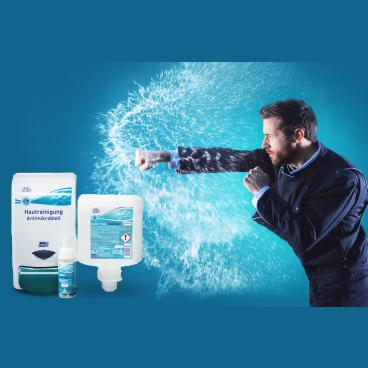 Deb Stoko® OxyBAC® Extra Foam Wash Hautreinigungsset 1 x Spender + 1 x 1000 ml Kartusche Schaumhandreiniger